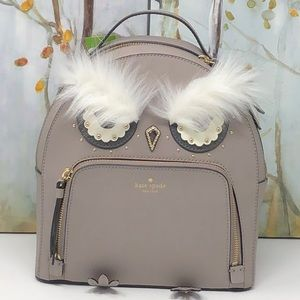 Nwt Kate Spade Owl tomi leather backpack